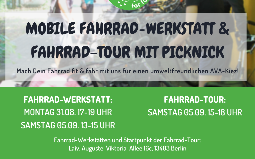 Mobile Fahrrad-Werkstatt & Fahrrad-Tour mit Picknick