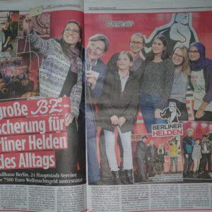 B.Z. unterstützt 24 Berliner Vereine mit je 7500 Euro Weihnachtsgeld